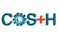 Logo: COS+H (China International Occupational Safety & Health Exhibition)
